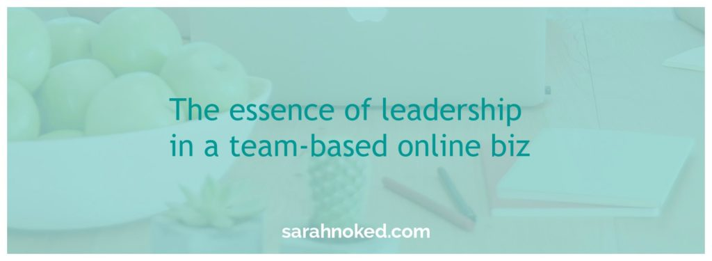 leadership in an online business