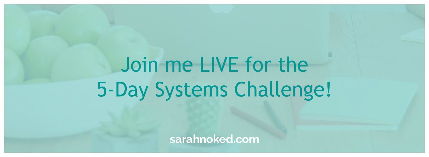 Join me LIVE for the 5-Day Systems Challenge!