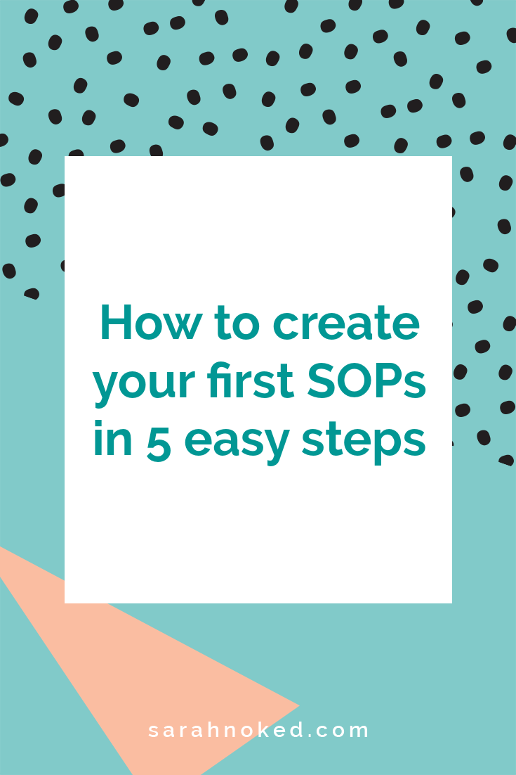 How to create your first SOPs in 5 easy steps