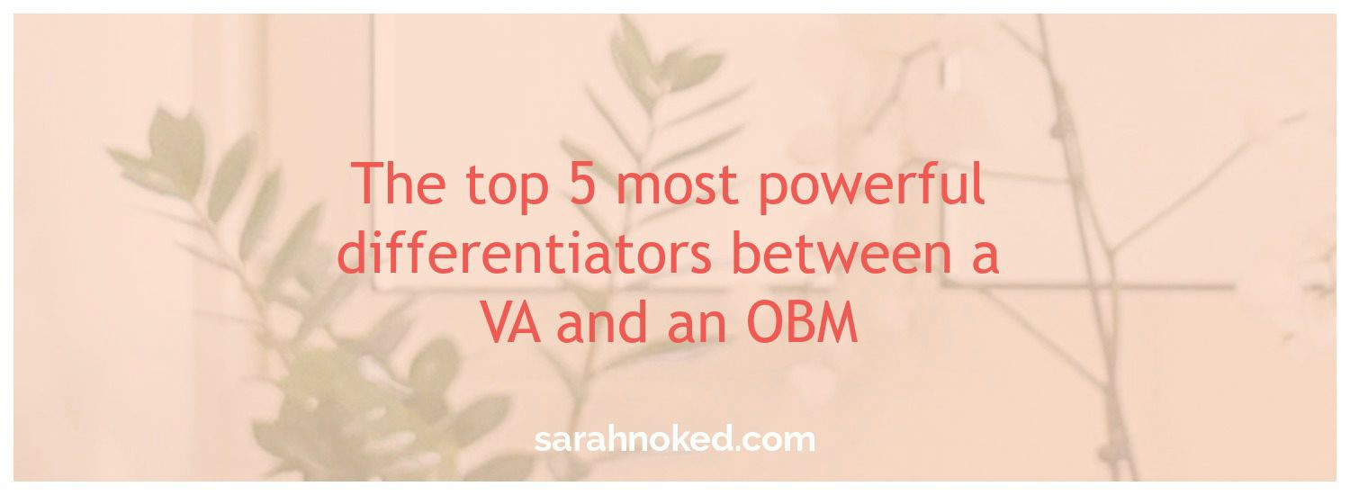 The top 5 most powerful differentiators between a VA and an OBM