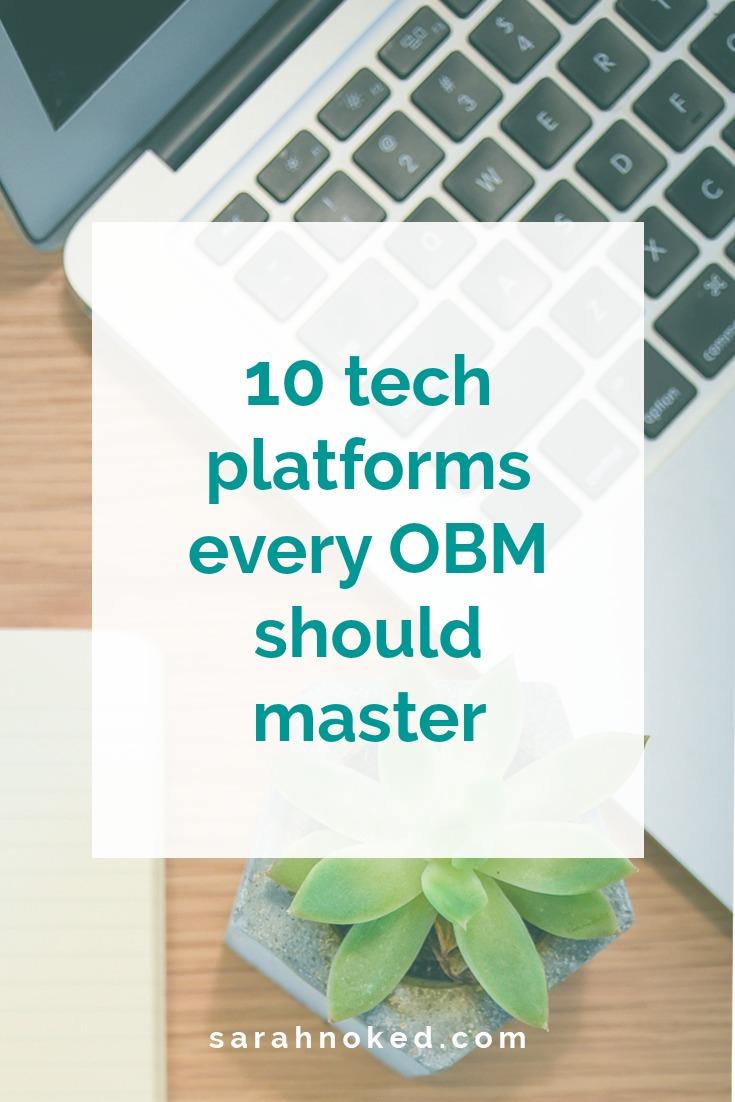 10 tech platforms every OBM should master