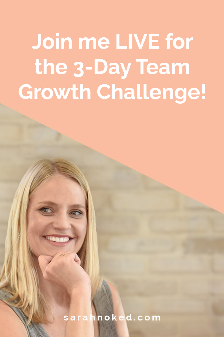 Join me LIVE for the 3-Day Team Growth Challenge!