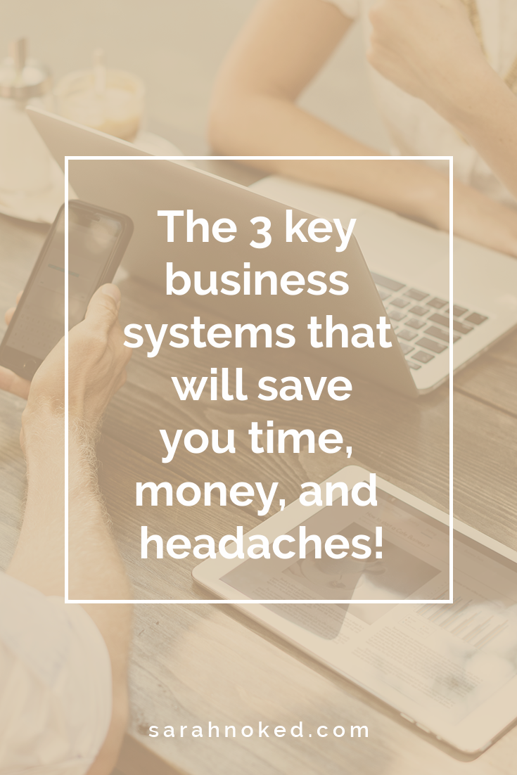 The 3 key business systems that will save you time, money, and headaches!