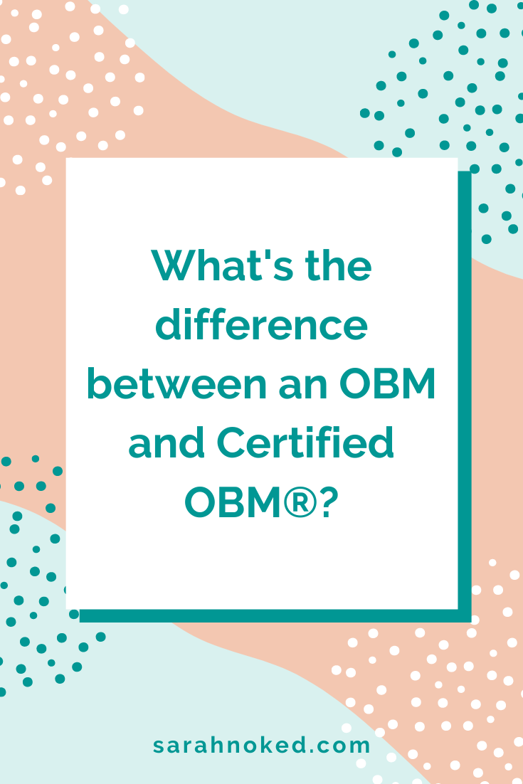 What's the difference between an OBM and Certified OBM®?